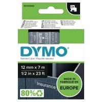 NASTRO PER ETICHETTATRICE DYMO D1 12MM x 7 M BIANCO/TRASPARENTE S0720600