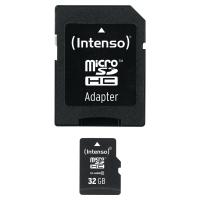 MICRO SD CLASSE 10 CON ADATTORE INTENSO 32GB