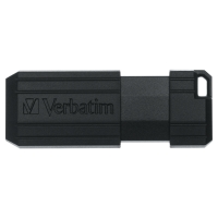 PK50 VERBATIM PINSTRIPE USB 2.0 8GB SORT