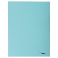 Lyreco chemises à 3 rabats A4 carton 280g bleu - paquet de 50