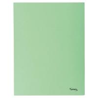 Lyreco 3-kleppenmappen A4 karton 280g groen - pak van 50