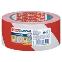 Tesa 58131 signalisatie tape 50mmx66m rood/wit