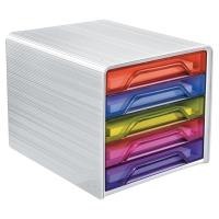 Zásuvkový modul Cep Happy,formát A4, 5-zásuvkový viacfarebný, 36 x 28,8 x 27 cm