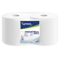 Pack de 2 rollos industriales LYRECO de 2 capas y de 250m