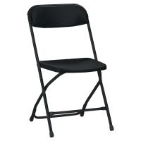 Pack 4 silla de recepción plegable LYRECO Medina color negro