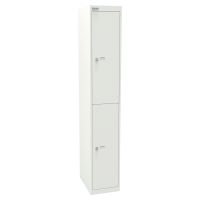 2-dverová šatňová skriňa Bisley, biela, 802 x 305 x 457 mm