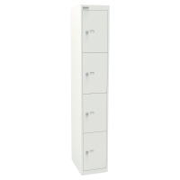 Garderobenschrank Bisley CLK184-001, 30,5x45,7x180,2 cm (BxTxH), weiss