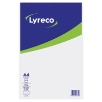 Lyreco schrijfblok A4 gelijnd geniet 100 vellen