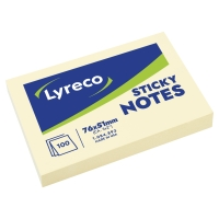 NOTISBLOCK LYRECO 656 51X76MM 100 BLAD GUL