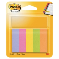 Post-it® Indexflikar 670-5 Papper 5 Neon Färger 15mm x 50mm
