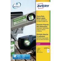 BOITE 240 ETIQUETTES ULTRA RESISTANTES LASER AVERY 99,1X42,3 BLANCHES L4776