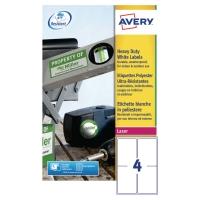 Avery L4774 weerbestendige heavy duty etiketten 99,1x139mm - doos van 80