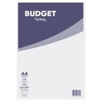 Block 100 hojas grapado cabecera blanco/gris A4 cuadriculado Lyreco Budget