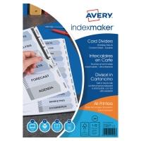 Juego de 12 separadores especiales A4  blanco 190g2  AVERY Index Maker