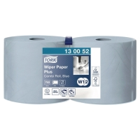 Pack de 2 bobinas industriales de papel de 2 capas TORK 255m color azul