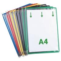 Tarifold 114009 panelen voor displaysysteem in metaal/PVC assorti - pak van 10