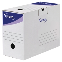 ARKIVESKE LYRECO 15CM RYGG HVIT 34X25CM