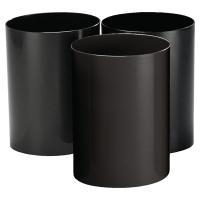 Papelera 16 l color negro  CEP  Dimensiones:    335mm alto x 260mm diámetro