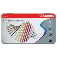 Stabilo Aquacolor kleurpotloden aquarel assorti - doos van 12