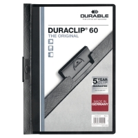 Dossier en PVC flexible transparente A4 DURABLE  contraportada en color negro