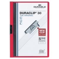 Klemmhefter Duraclip 2200 A4, Füllhöhe 3 mm, rot