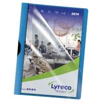 Klemmhefter Lyreco A4, Füllhöhe 3 mm, blau, Packung à 5 Stück