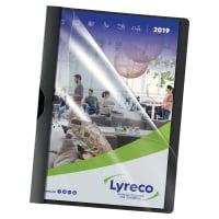 Klemmhefter Lyreco A4, Füllhöhe 3 mm, schwarz, Packung à 5 Stück