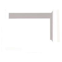 Pochettes dos carton 262x371mm bande siliconée 120g blanches - boite de 100
