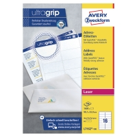 BOITE 1600 ETIQUETTES ADRESSES LASER AVERY 99,1X33,9 MM BLANCHES L7162