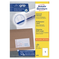 Avery 3478 multifunctionele etiketten 210x297mm - doos van 100