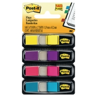 Dispenser Post-it Index 683-4AB, 11,9x43,2 mm, neon, Packung à 4 Stück