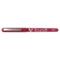 Pilot V-Ball roller met metalen punt 0,5mm rood
