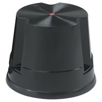 Taburete de plástico con ruedas de 1 peldaños TWINCO color negro