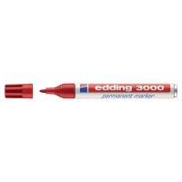 Edding 3000 marqueur permanent pointe ogive1,5 - 3mm rouge
