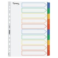 Przekładki kartonowe LYRECO z laminowanymi kolorowymi indeksami A4  10 stron