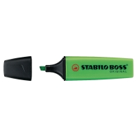 Marcador fluorescente color verde STABILO BOSS