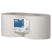 Pack de 2 bobinas industriales de papel 2 capas TORK 340m color blanco