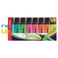 Estuche de 8 marcadores fluorescentes colores surtidos STABILO BOSS