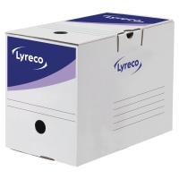 ARKIVESKE LYRECO AUTOMATISK 200MM RYGG HVIT