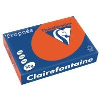 RISMA 500 FOGLI CARTA TROPHEE CLAIREFONTAINE FORMATO A4 80 G/MQ ARANCIONE