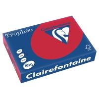 Trophée farebný papier Clairefontaine, A4 80g/m² - červený