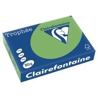 Trophée farebný papier Clairefontaine, A4 80g/m² -  zelený