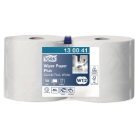 Pack de 2 bobinas industriales de papel 2 capas TORK 255m color blanco
