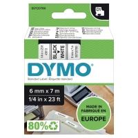 Dymo 43613 D1-etiketteerlint/tape 6mm zwart/wit