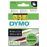 TEKSTTAPE DYMO 45808 19MM SORT/GUL
