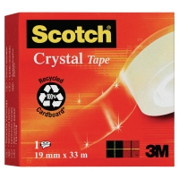 ROULEAU ADHESIF SCOTCH CRYSTAL TRANSPARENT 600 19MMX33M