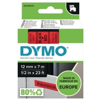 TEKSTTAPE DYMO 45017 12MM SORT/RØD