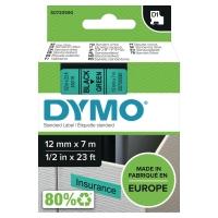 D1 páska Dymo čierno-zelená 12 mm x 7 m