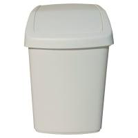 Odpadkový kôš s vyklápacím vrchnákom Rubbermaid biely, 25 l