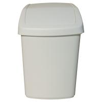 Odpadkový kôš s vyklápacím vrchnákom Rubbermaid biely, 50 l
